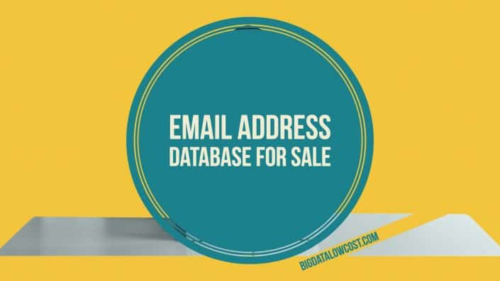 Email address database for sale