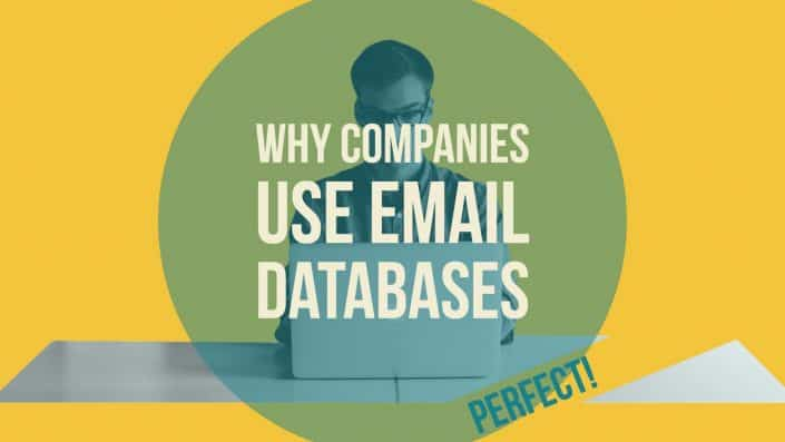 Why companies use email databases