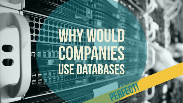 why would companies use databases